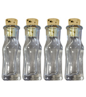 Art-C Small Rectangular Glass Bottles