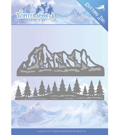 Find It Trading Jeanine\u0027s Art Wintersports Cutting Die-Mountain Border