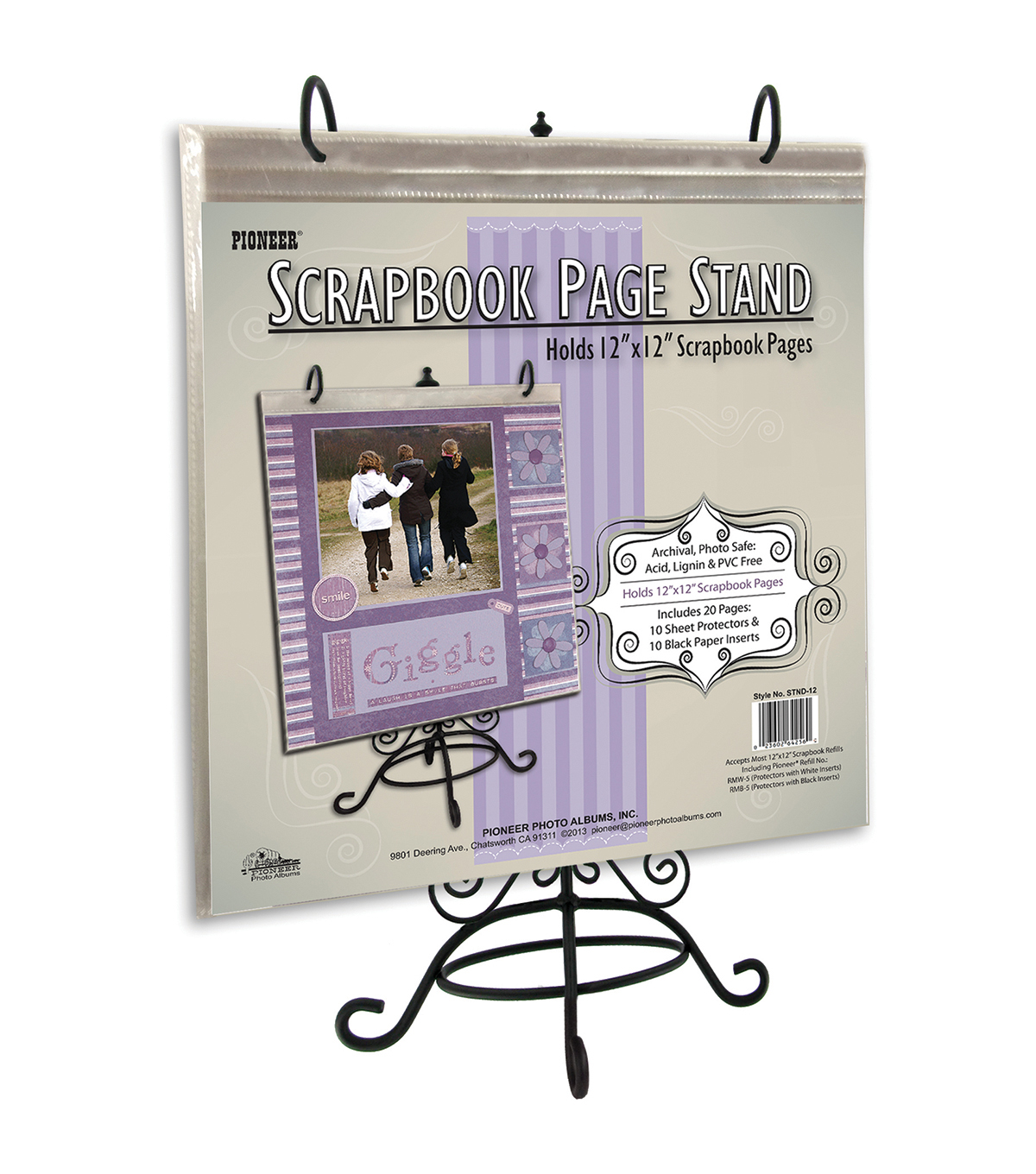 Metal Scrapbook Page Stand For 12\u0022X12\u0022-