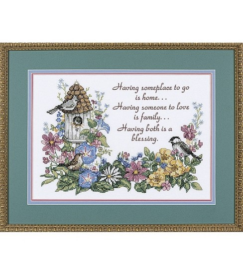 Dimensions Stamped Cross Stitch Kit Flowery Verse