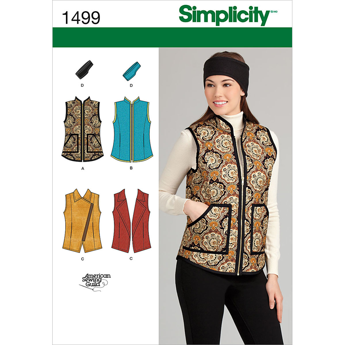 Simplicity Pattern 1499H5 6-8-10-12--Misses Jackets Coats