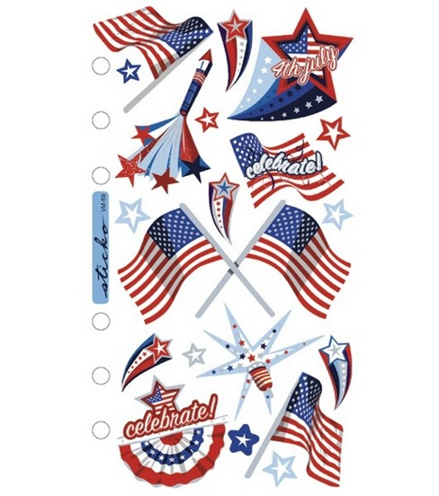 Sticko Vellum Stickers-4th of July