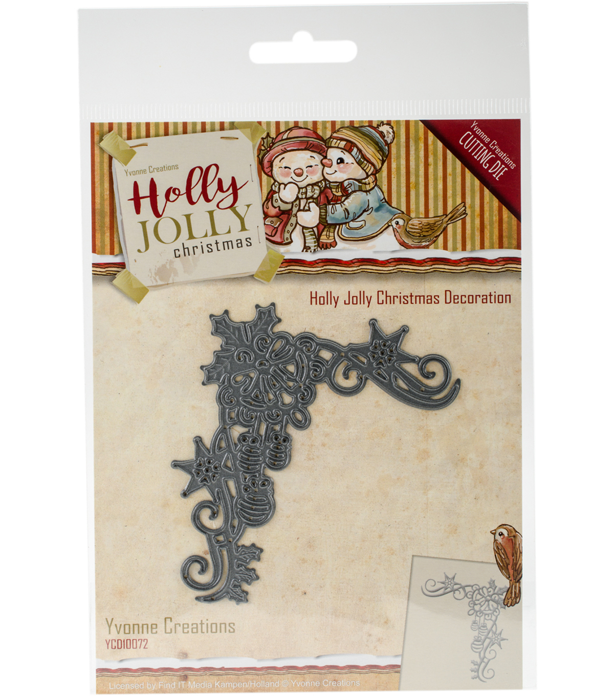 Find It Trading Yvonne Creations Holly Jolly Die-Christmas Decoration