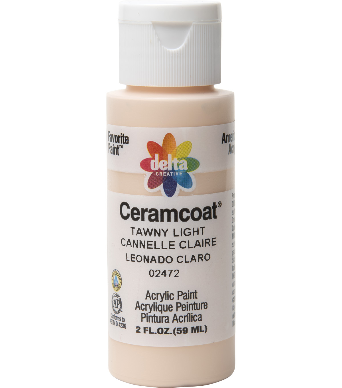 Delta Ceramcoat Acrylic Paint 2 oz, Santa\u0027s Flesh