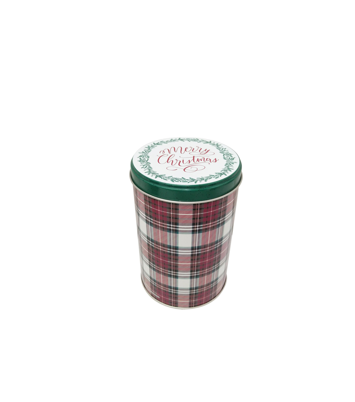 Maker\u0027s Holiday Christmas Medium Round Cookie Canister-Merry Christmas