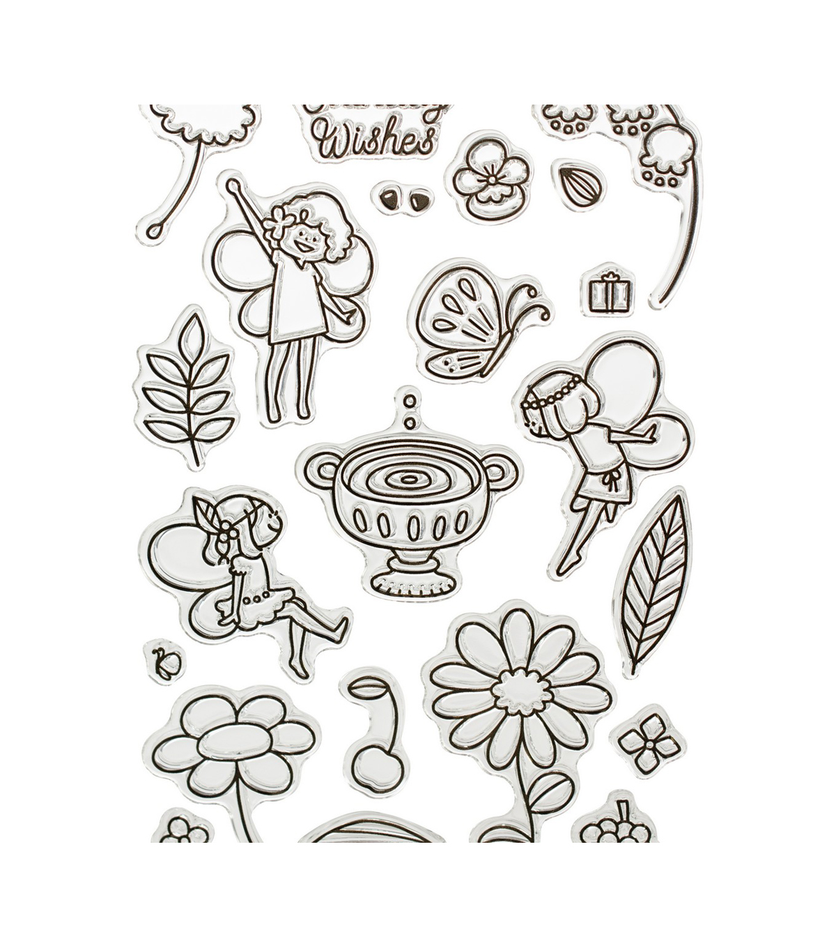 Waffle Flower Crafts Clear Stamps 4\u0027\u0027X6\u0027\u0027-Little Fairies