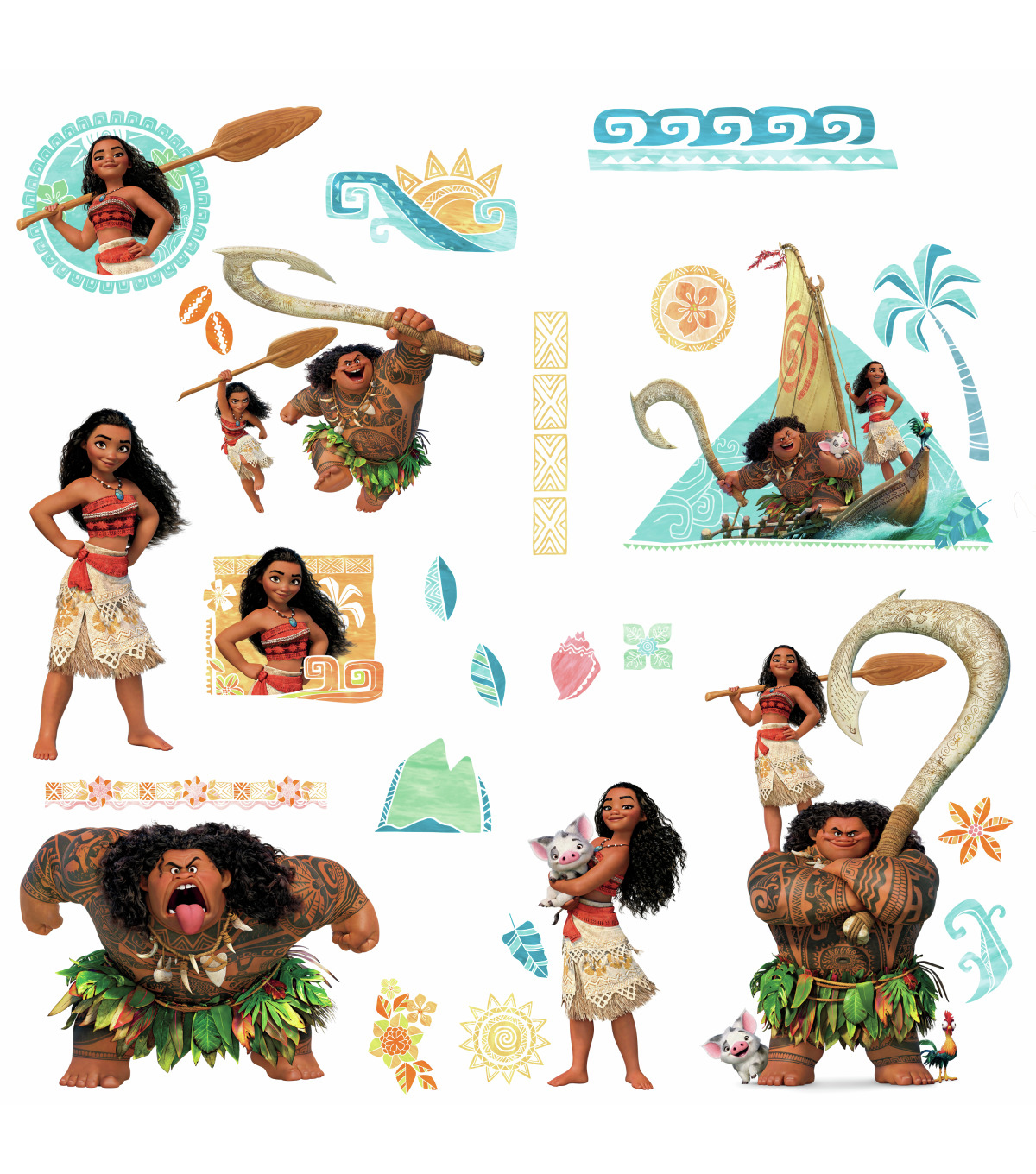 York Wallcoverings Wall Decals-Moana