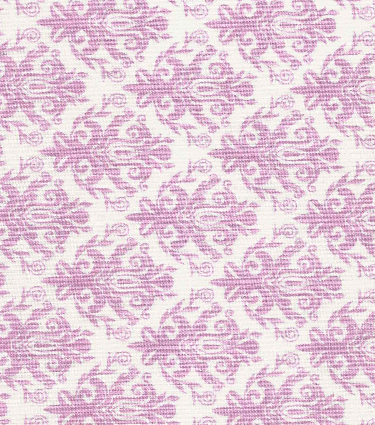 Quilter\u0027s Showcase Cotton Fabric -Opera Mauve Damask