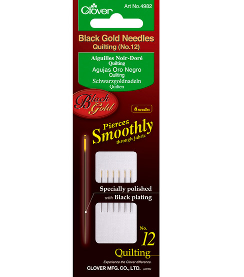Black Gold Quilting Needles-Size 12 6/Pkg