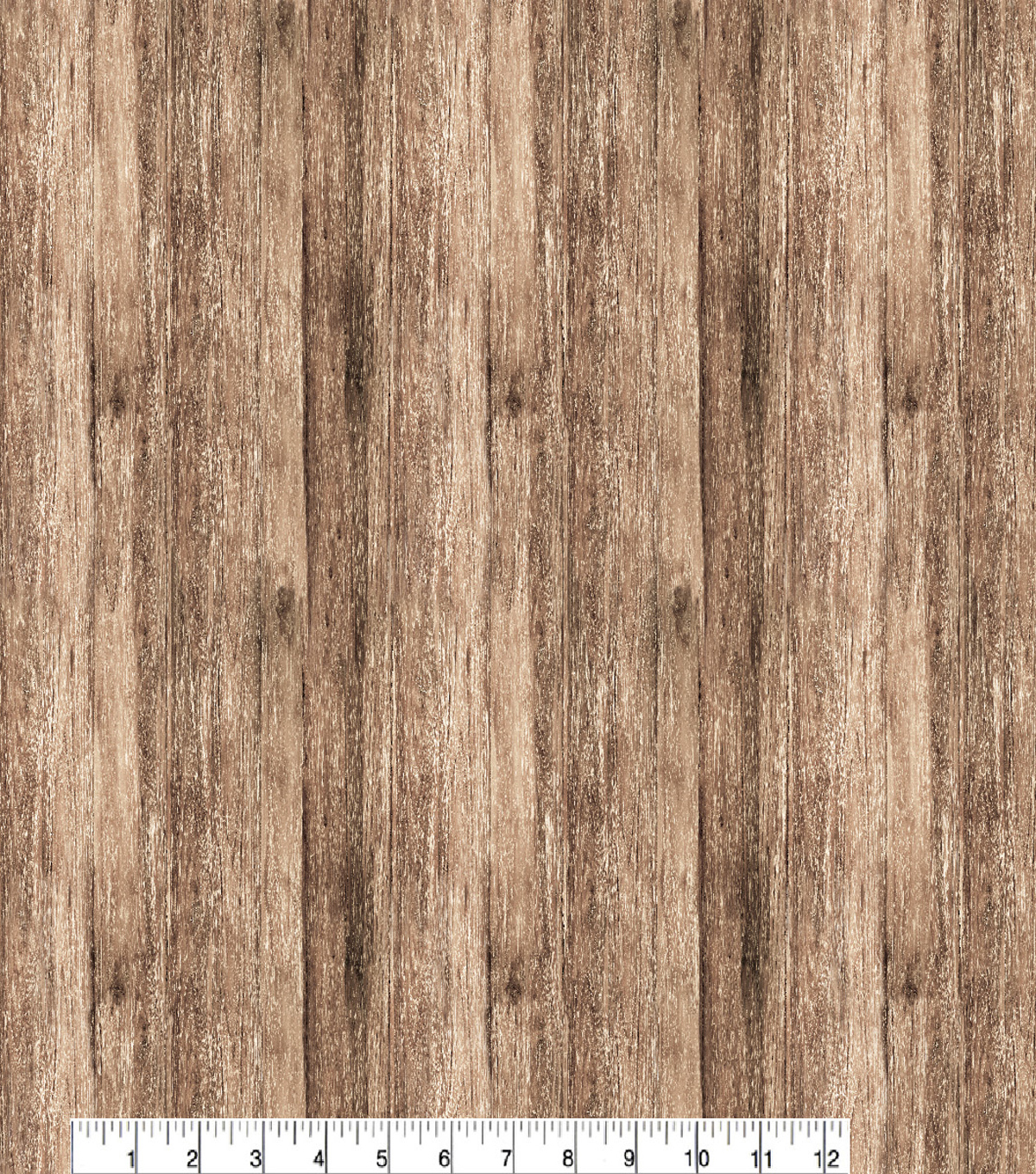 Novelty Cotton Fabric -Wood