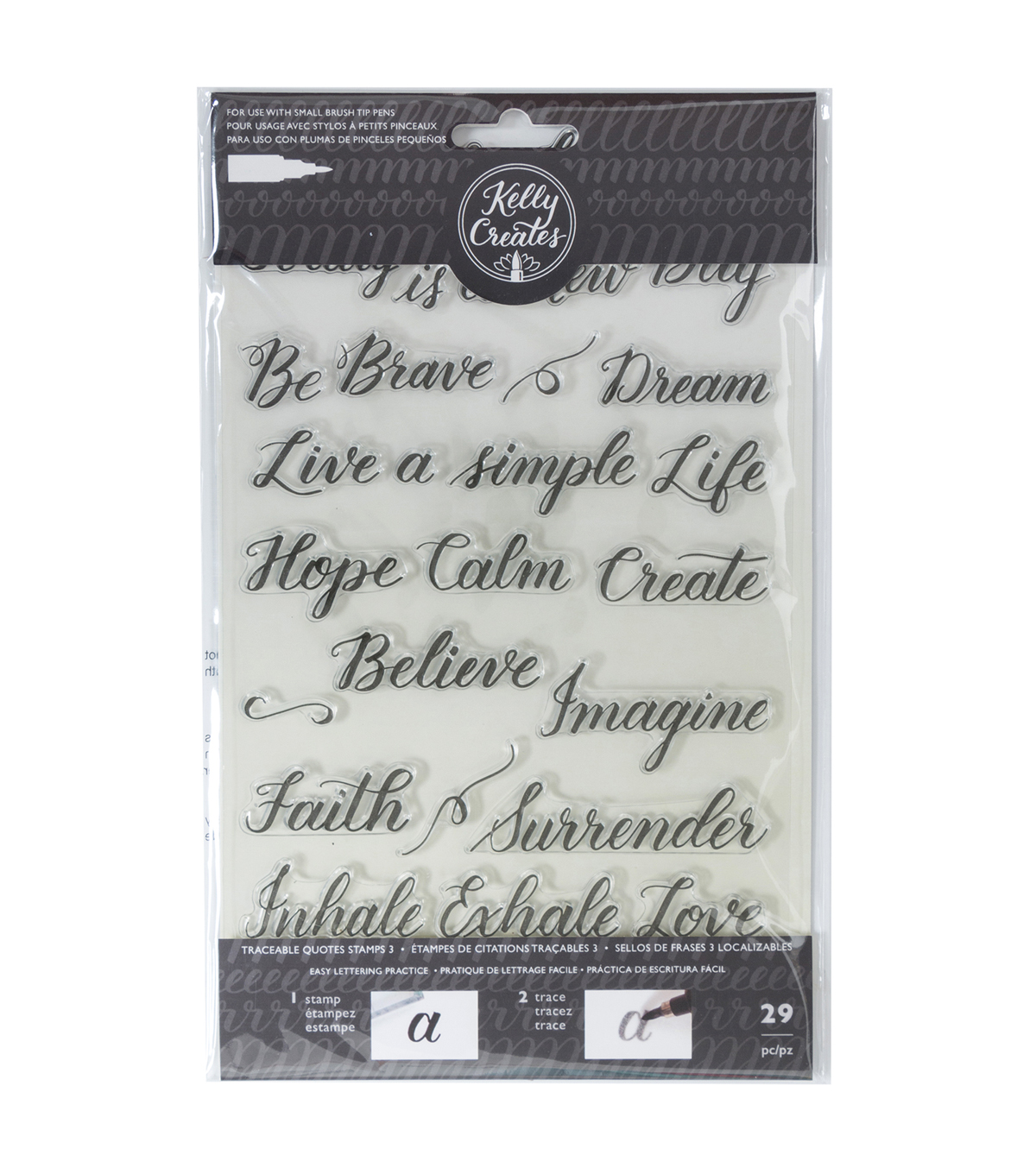 Kelly Creates Traceable Acrylic Stamps, Quotes 3