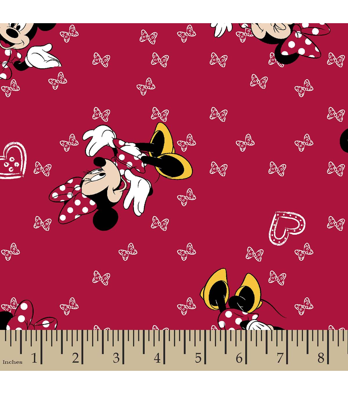 Disney Minnie Mouse Print Fabric-Giggles