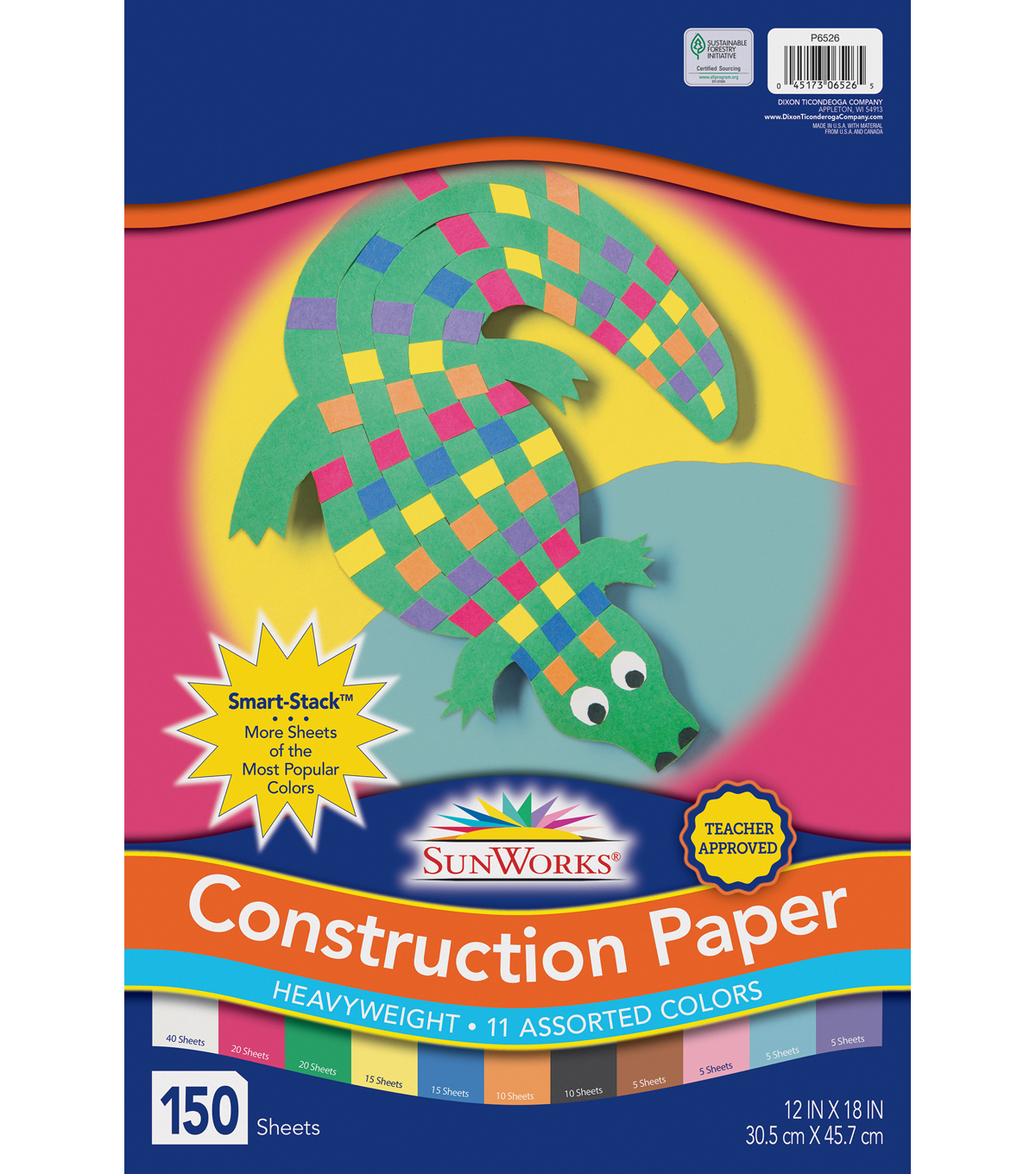 Sunworks Construction Paper Smart Stack Assortment 12x18 Joann