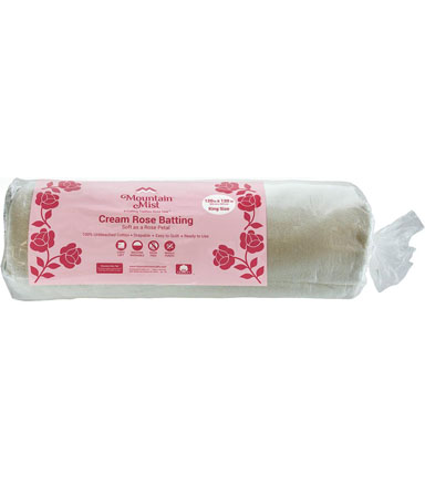 Mountain Mist Cream Rose King Size Cotton Batting