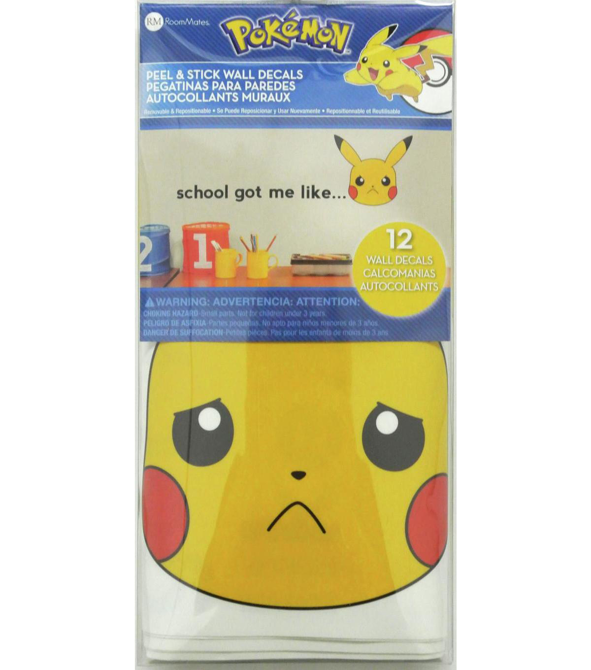 York Wallcoverings Wall Decals-Pokemon Pikachu Faces