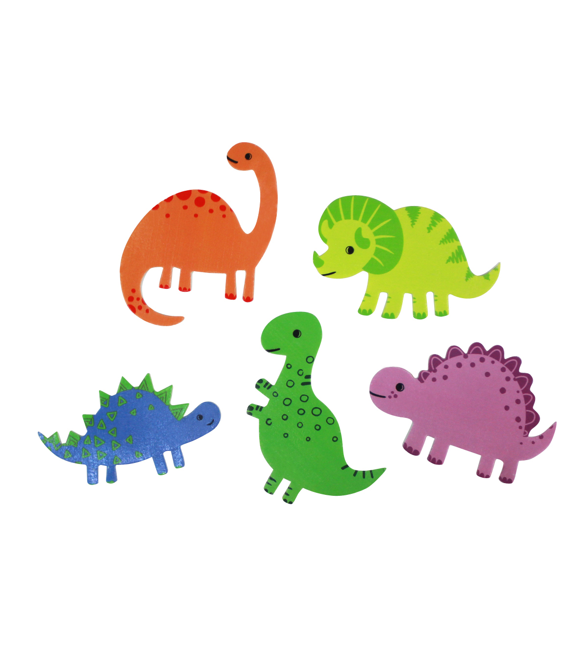Dino Adhesive Foam Stickers