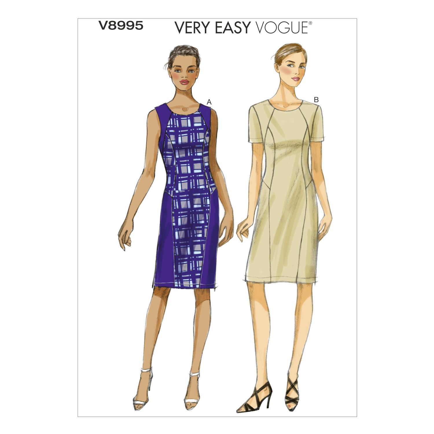 Vogue Patterns Misses Dress-V8995