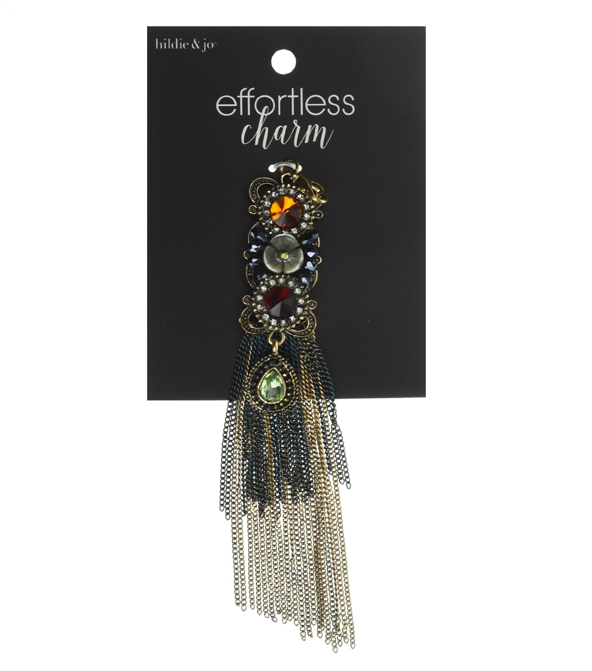 hildie & jo Effortless Charm Antique Gold Tassel-Stones