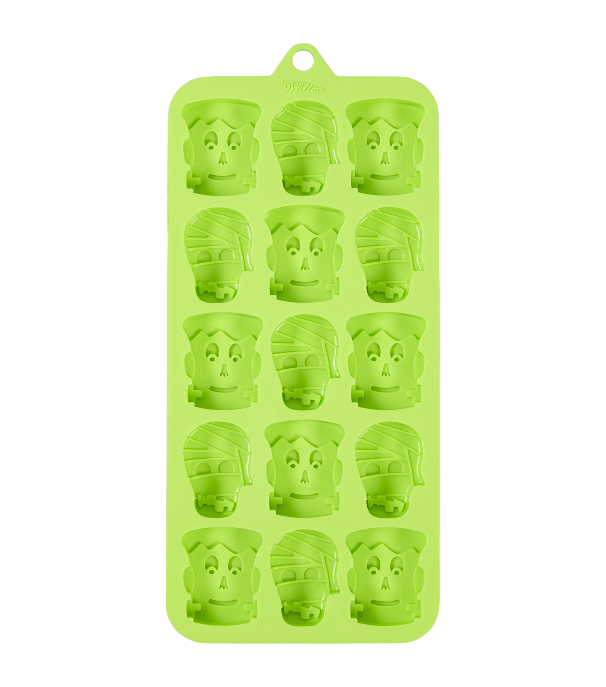Wilton Maker\u0027s Halloween Silicone Candy Mold-Frankenstein Faces