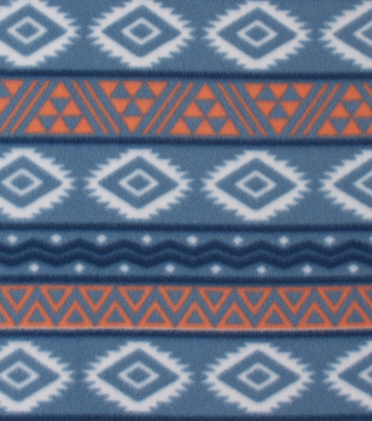 Blizzard Fleece Fabric 59\u0027\u0027-Tribal Stripe