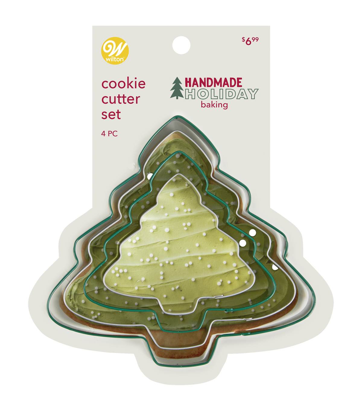 Handmade Holiday Baking Wilton Christmas 4 pk Metal Tree Cookie Cutters