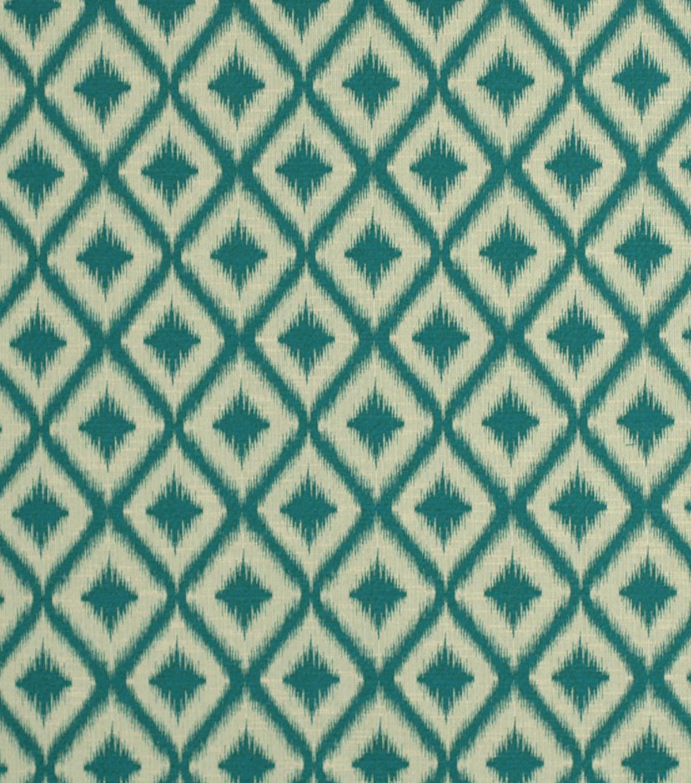Robert Allen @ Home Upholstery Fabric 54\u0022 Ikat Fret Tourmaline