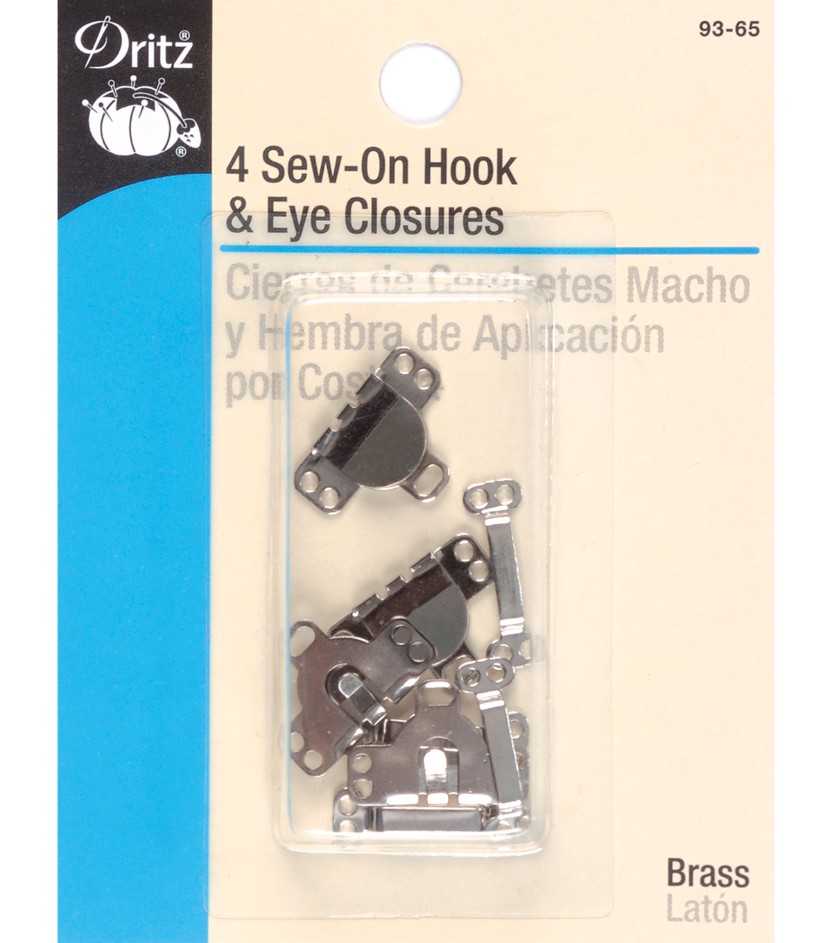 Dritz 0.63\u0027\u0027 Skirt Hook &Eyes 4pcs