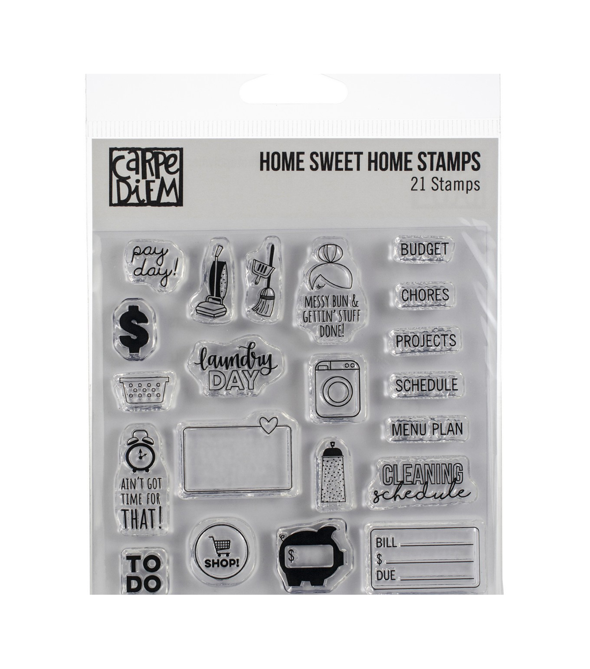 Simple Stories Carpe Diem Photopolymer Clear Stamps-Home Sweet Home