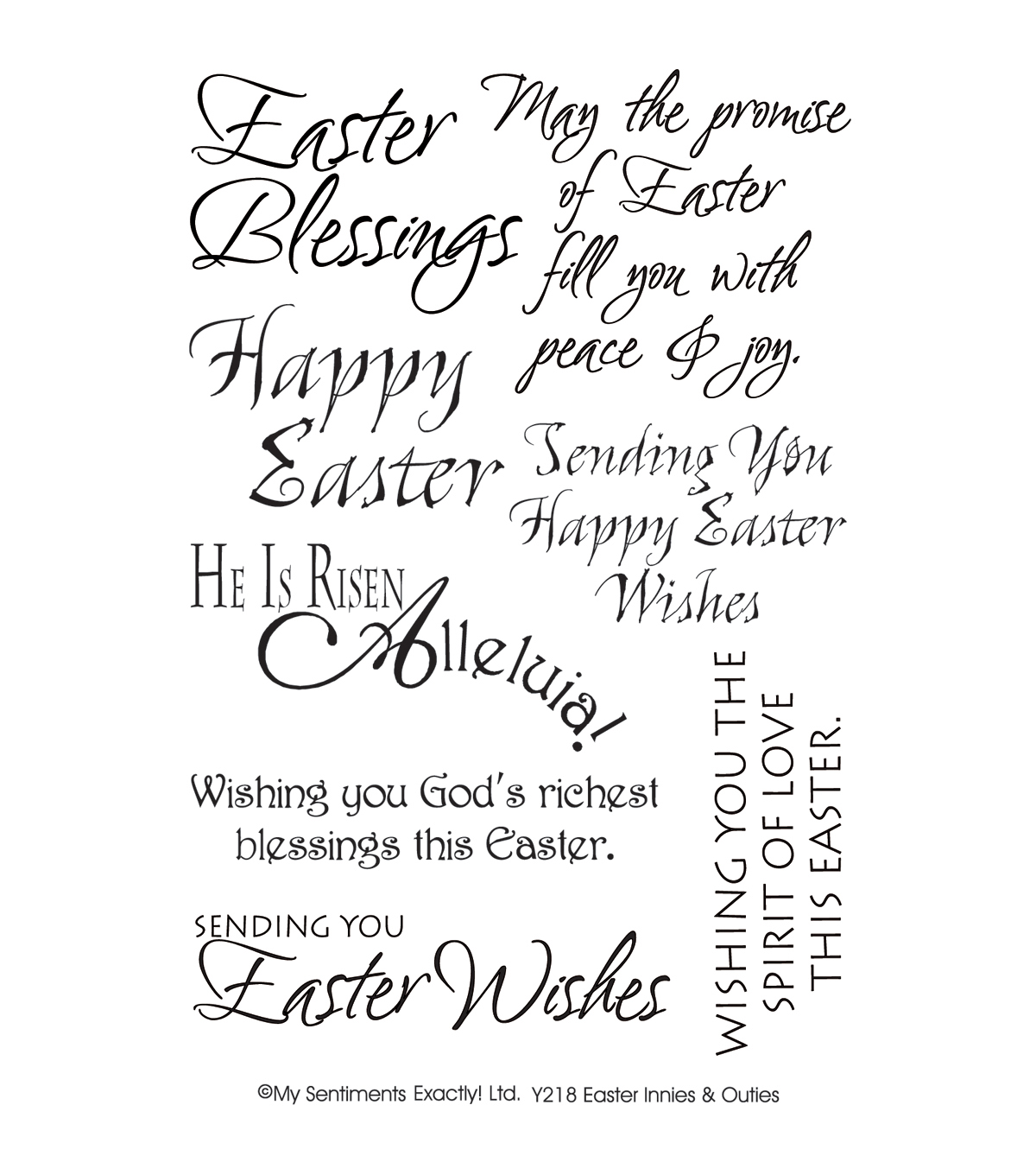 My Sentiments Exactly Clear Stamps 4\u0022X6\u0022 Sheet-Easter