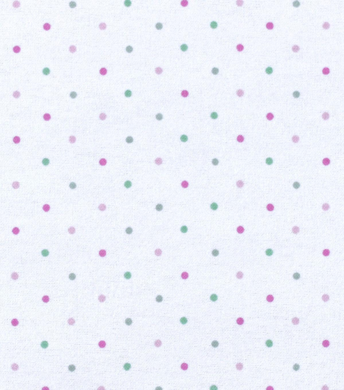 Nursery Flannel Fabric 42\u0022-Dots