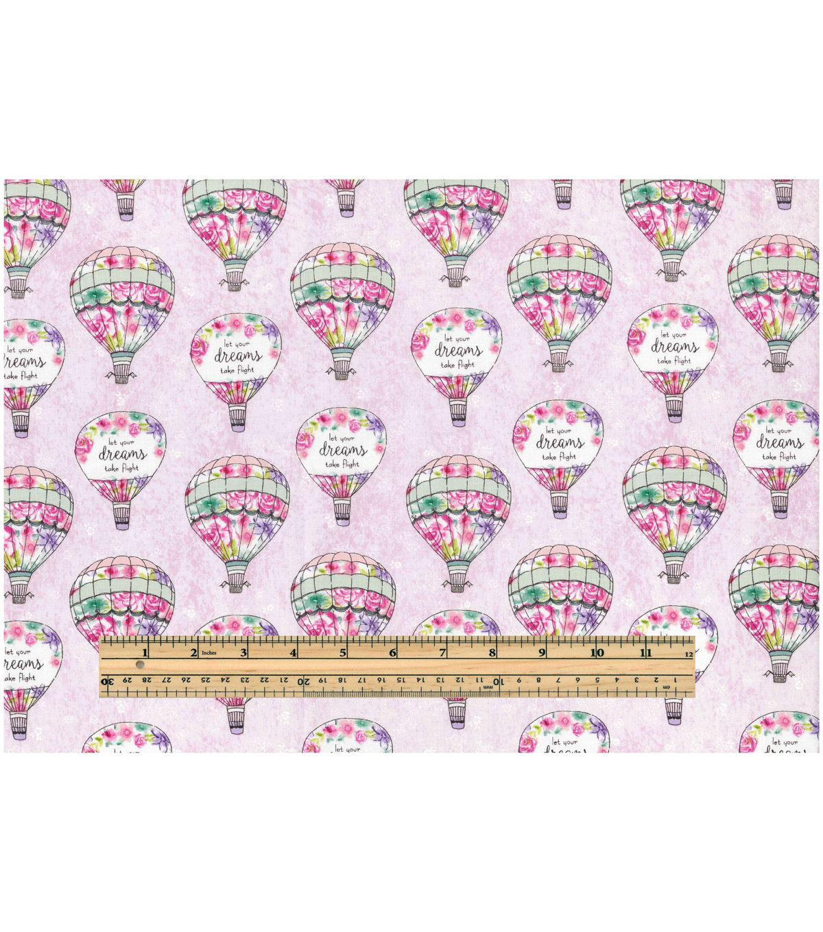 Novelty Cotton Fabric-Let Your Dreams Take Flight