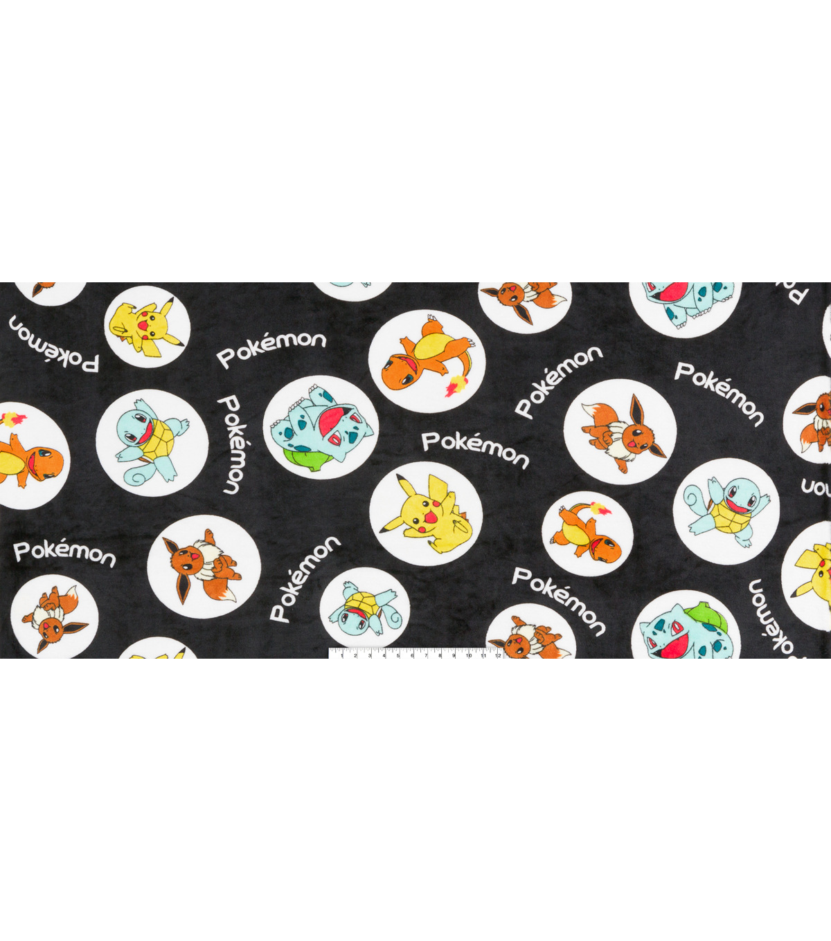 Pokemon Micro Velvet Fleece Fabric 58\u0022-Circle Toss