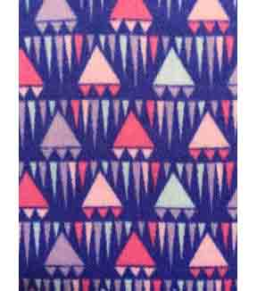 Doodles Juvenile Apparel Fabric 57\u0027\u0027-Blue Triangles Interlock
