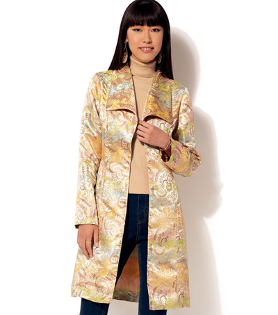 Kwik Sew Pattern K4197 Misses\u0027 Shawl Collar Jacket & Coat-Size XS-XL