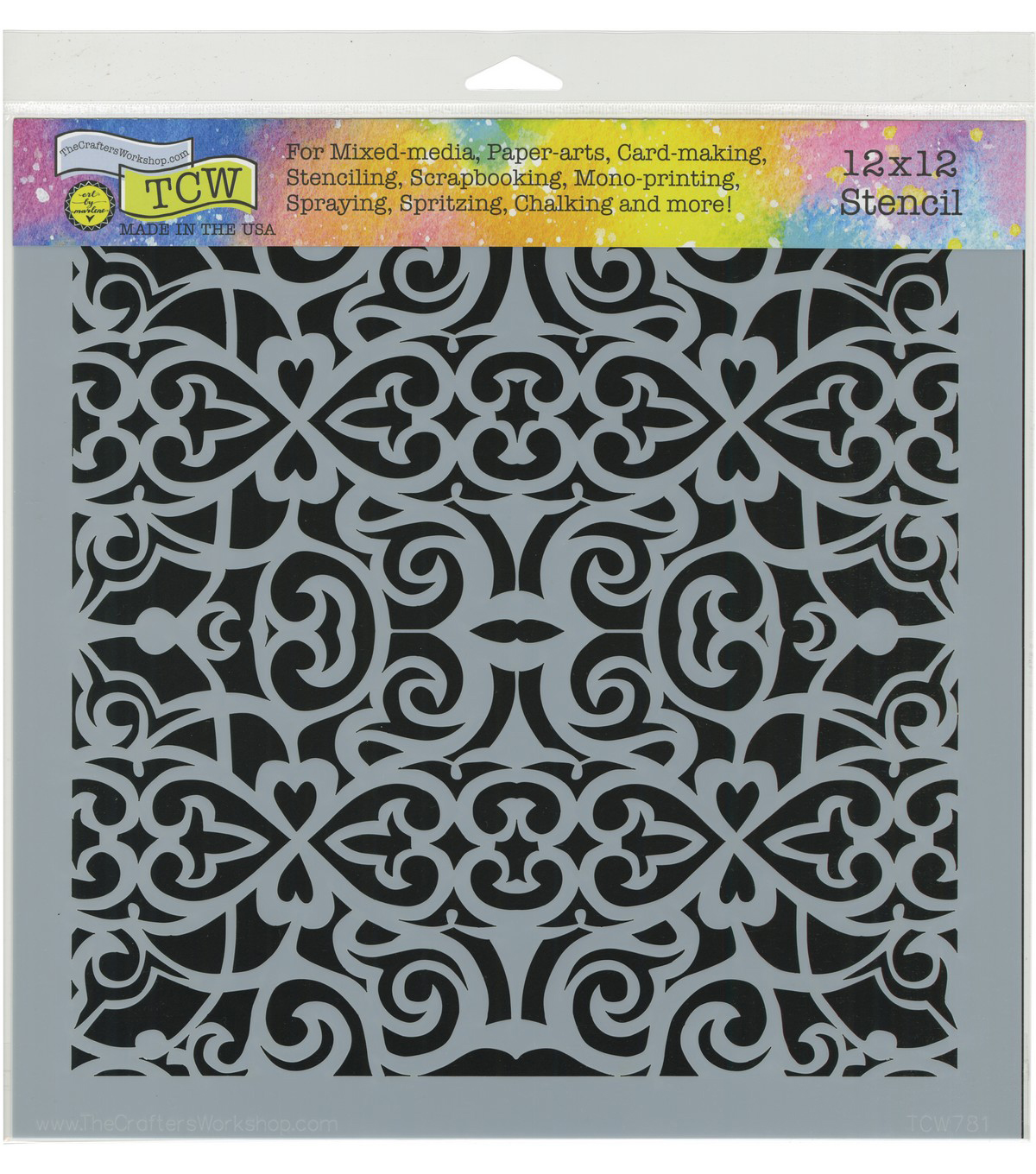 The Crafter\u0027s Workshop 12\u0027\u0027x12\u0027\u0027 Stencil-Scroll Work