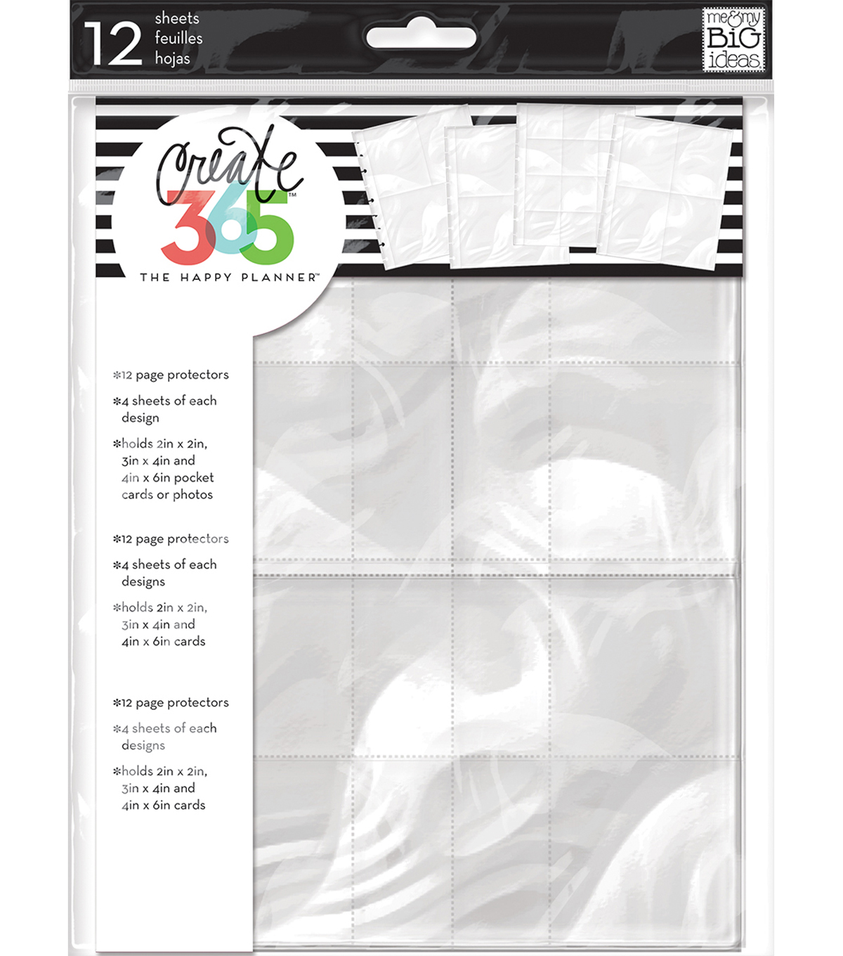 The Happy Planner Planner Page Protectors-3 Layout