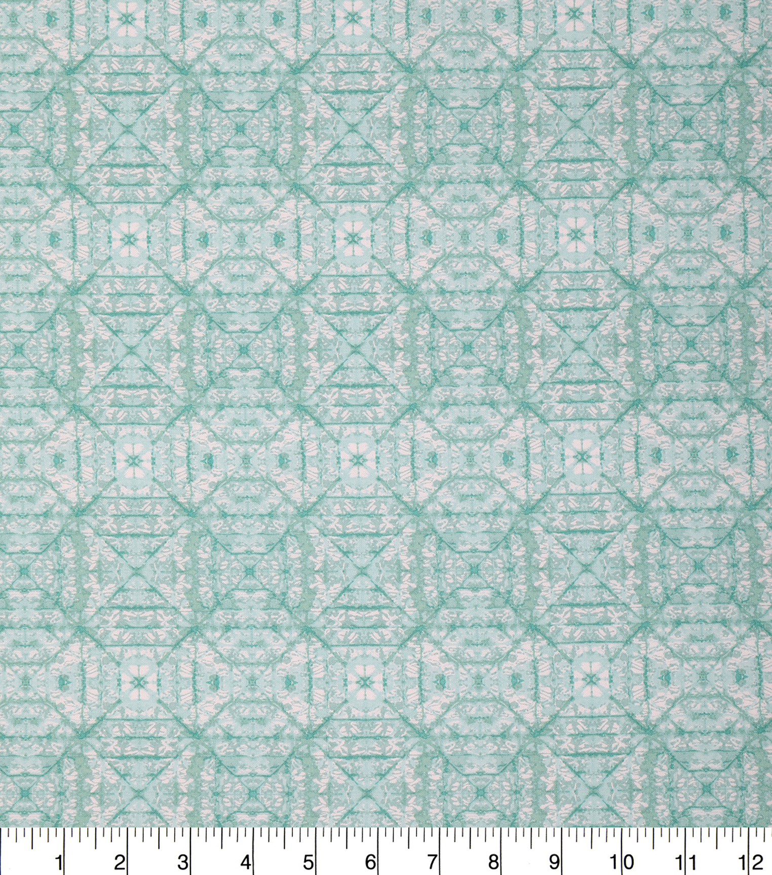 Keepsake Calico Cotton Fabric 43\u0027\u0027-Green Tonal Geometric Diamond