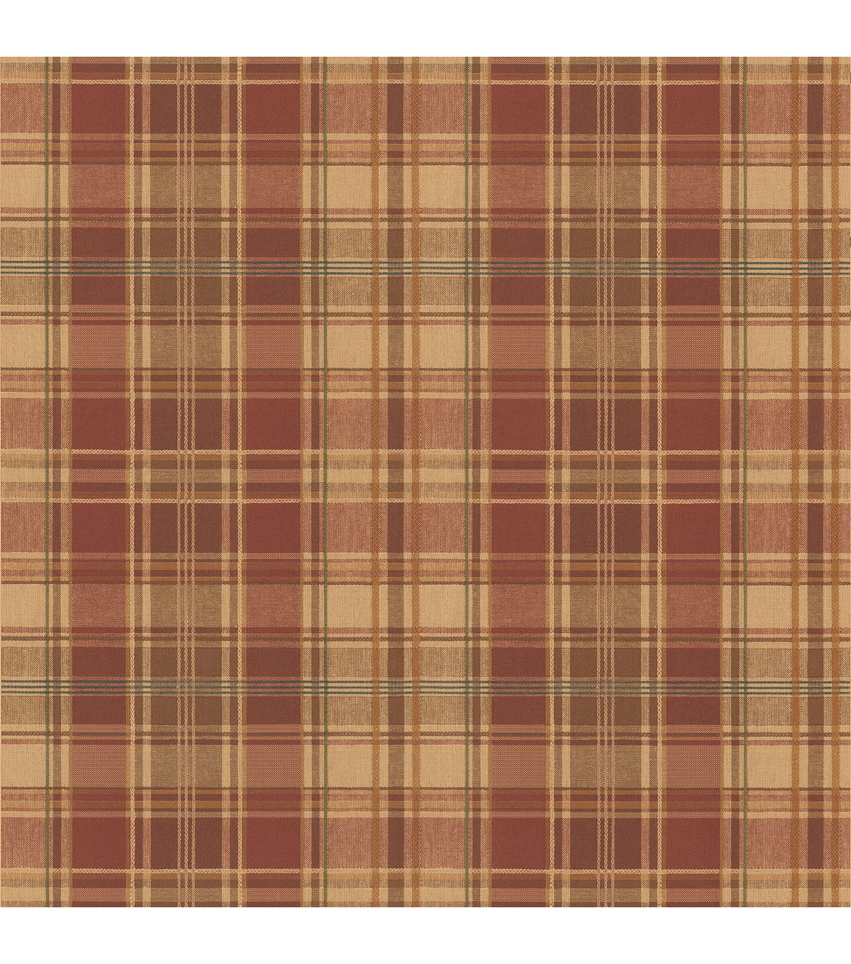 Tartan Wool Brick Plaid Wallpaper Sample