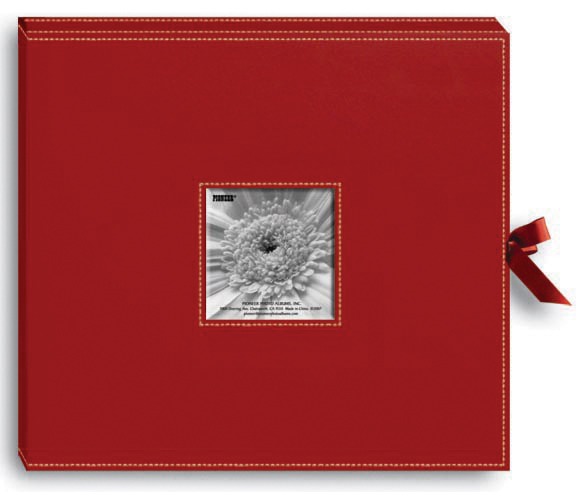 Pioneer Leatheretter D-Ring Album, Red