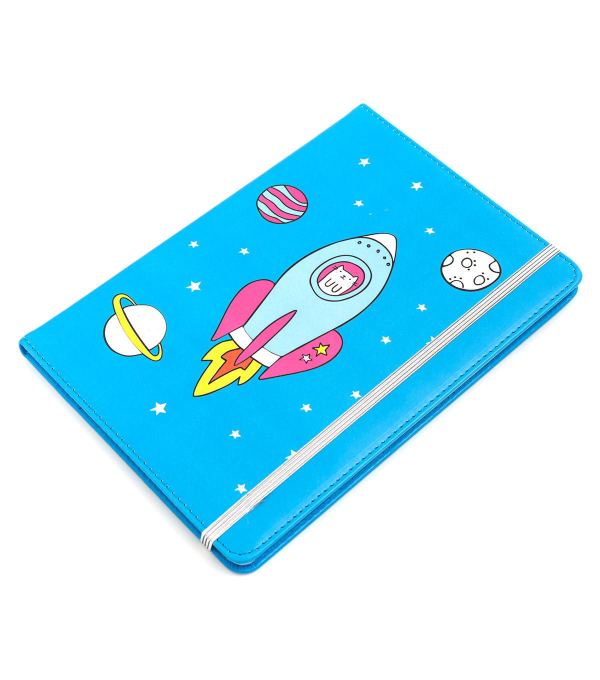 American Crafts Hello Dreamer Journal-Rocket Kitty