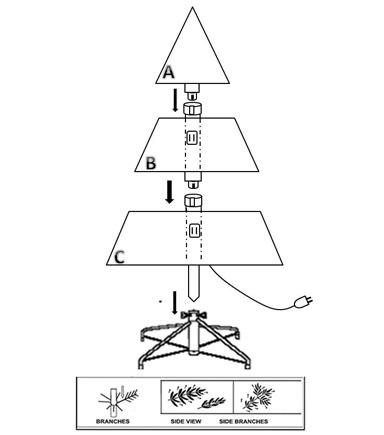Bloom Room 7 New England Pine Pre Lit Christmas Tree