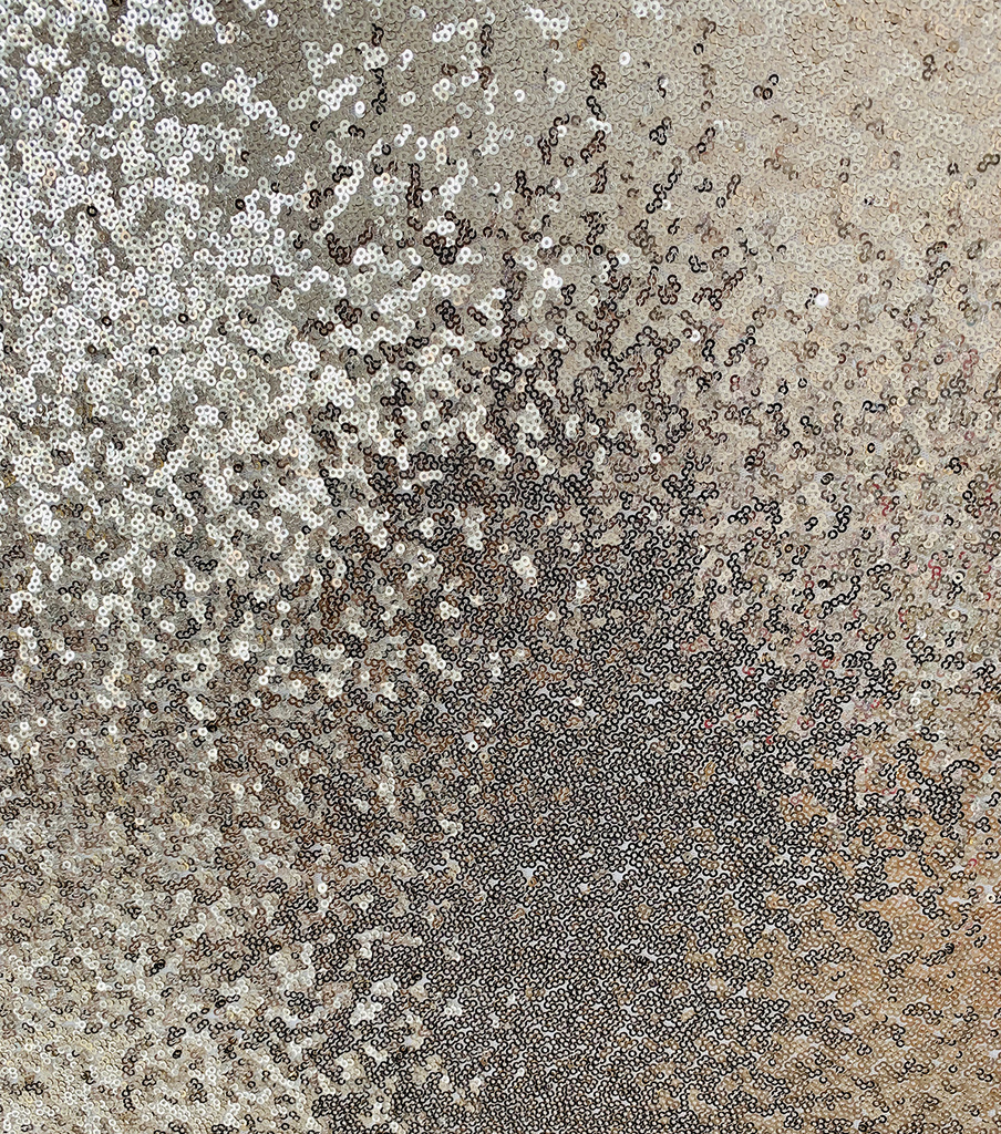 All Over Sequin Fabric 56\u0022-Champagne