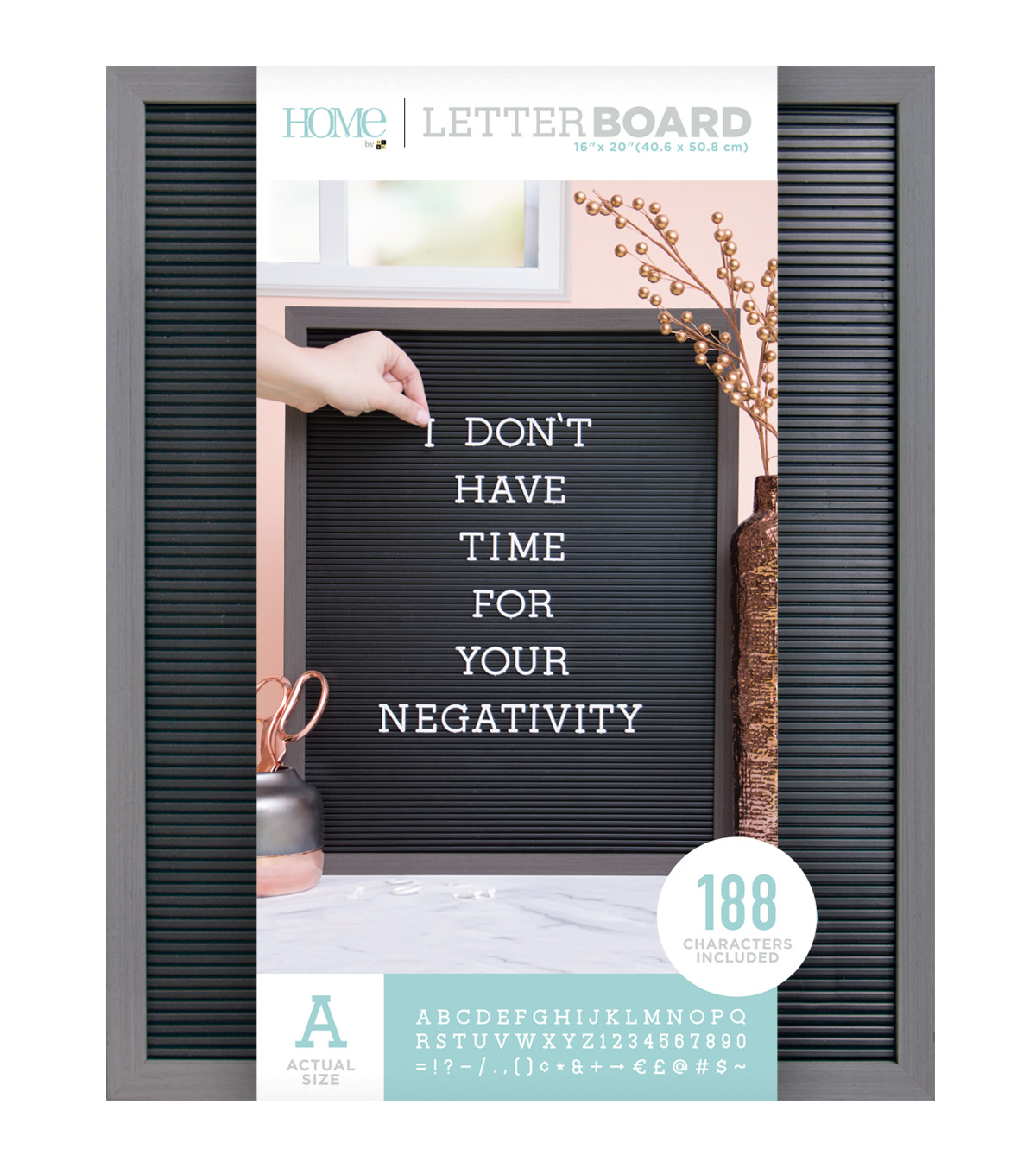 Dcwv Home 16 X20 Black Letter Board With 1 White Letters Joann