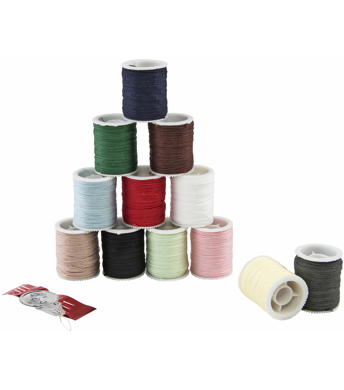 12 colors fine assorted Sewing thread Spools Hand Machine Sewing Thread real