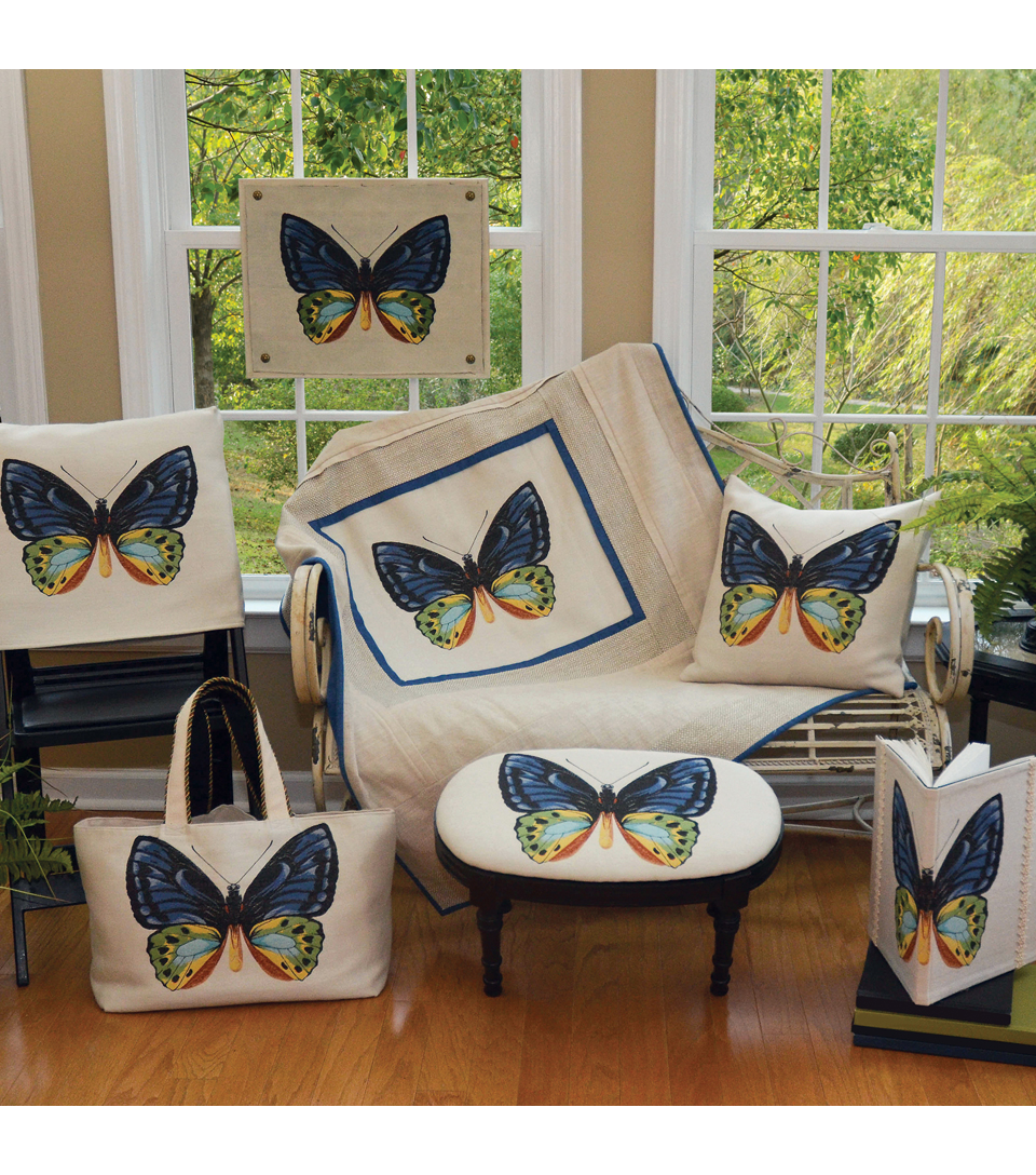 Square By Design-Butterfly 25\u0022 Woven Square