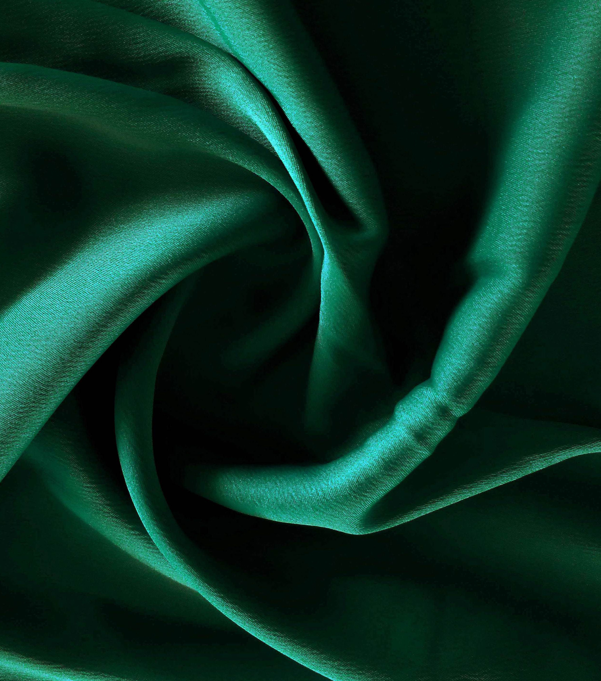 Silky Stretch Satin Fabric-Textured Solids, Dark Green
