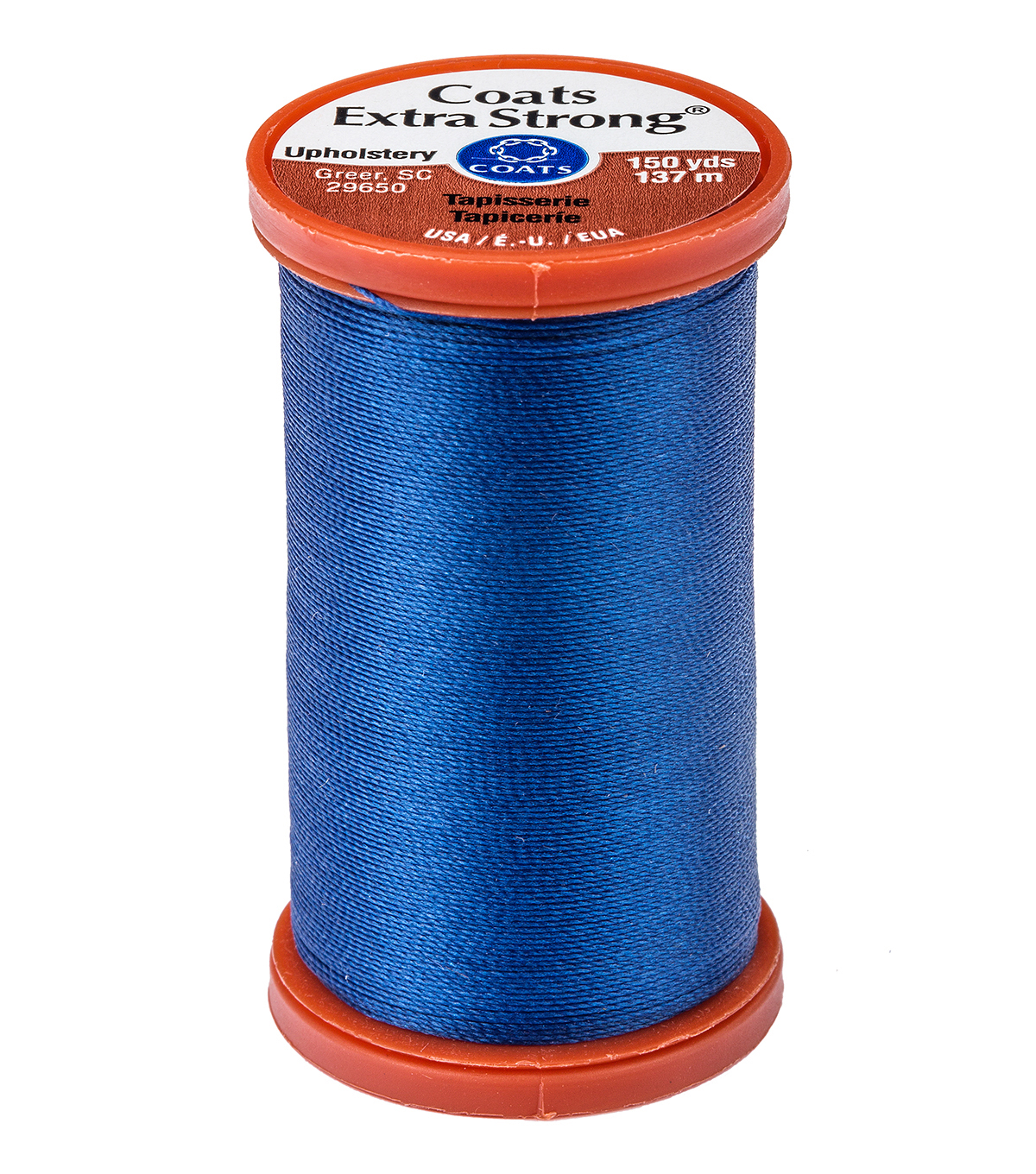 Coats & Clark Extra Strong & Upholstery Thread 150 yd , Yale Blue