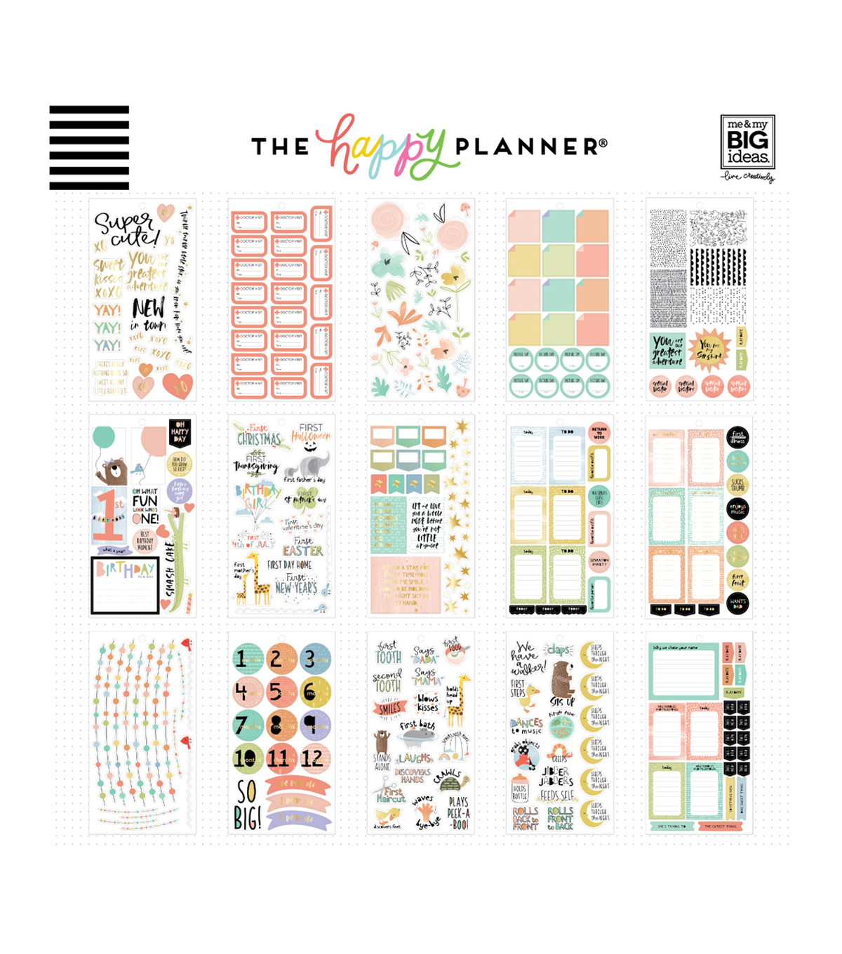 Happy Planner Baby Girl Stickers