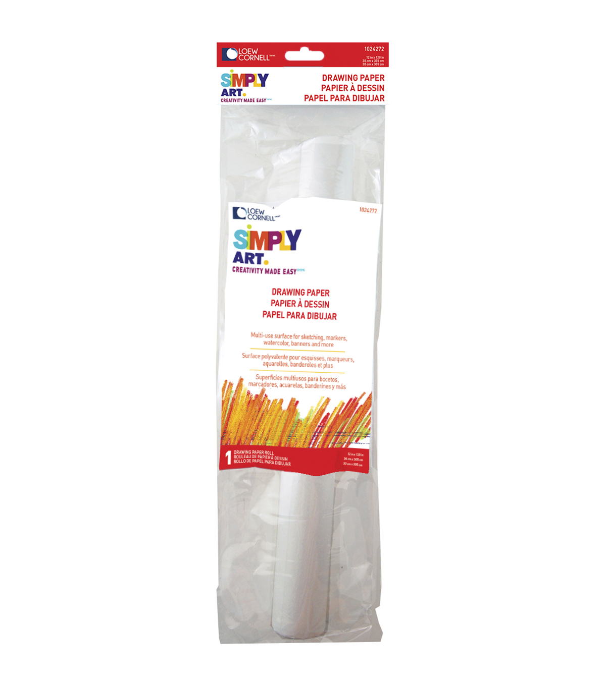 Simply Art Drawing Paper Roll 12\u0022X120\u0022