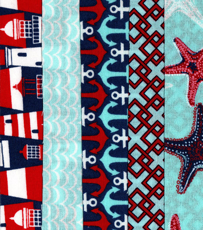 Jelly Roll Cotton Fabric Pack 2.5''x42''-Nautical | JOANN